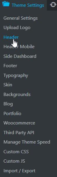 configuring header