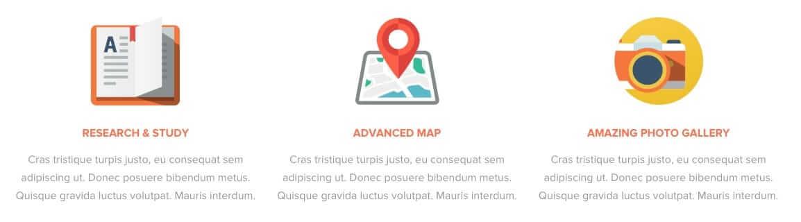 Icon Box Demo Web Design Trends