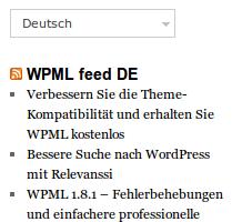 Widgets Per Language