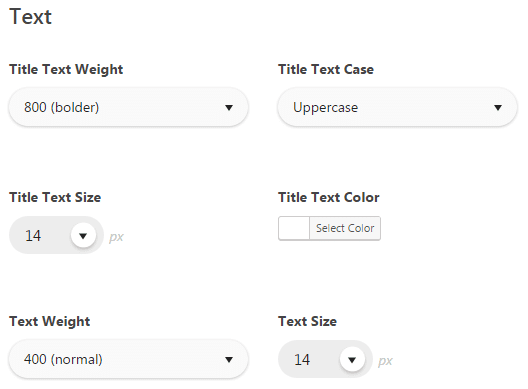 Theme options footer typography - settings