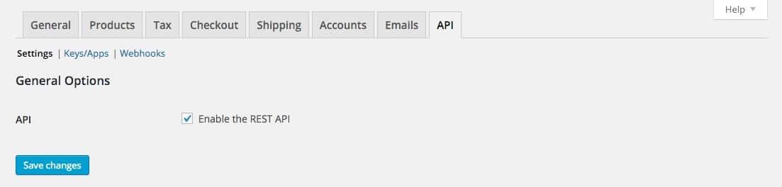 Woocommerce Options API