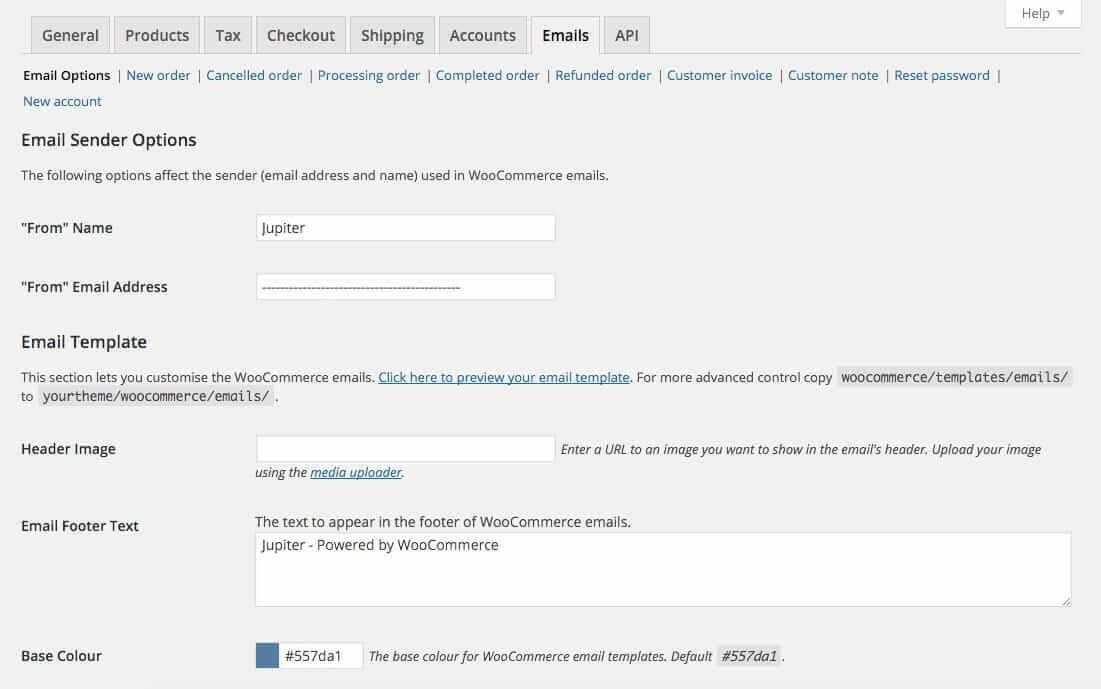 Woocommerce Options Emails