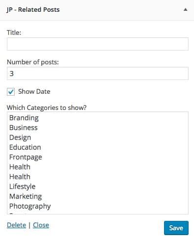 Widgets Related Posts