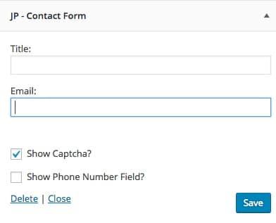 Widgets Contact Form