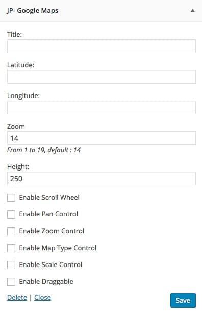 Widgets Google Maps