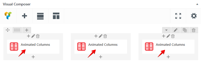 Animated Columns Shortcode - animated columns