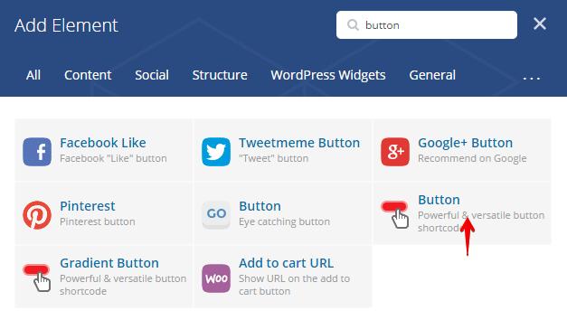 Button Shortcode - add element