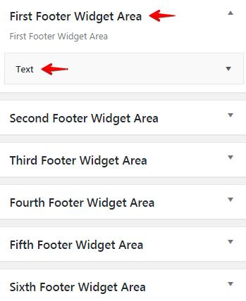 Configuring logos - Footer Widget Areas