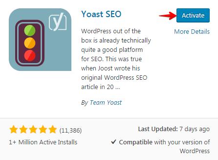 Configuring breadcrumb - Activate Yoast SEO