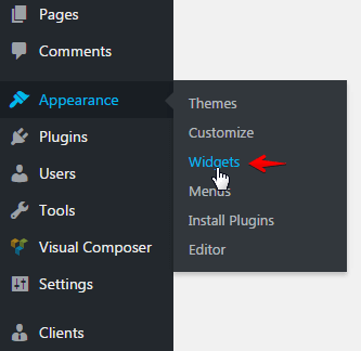 Configuring search box - Widgets