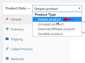 Creating a product post - simple product