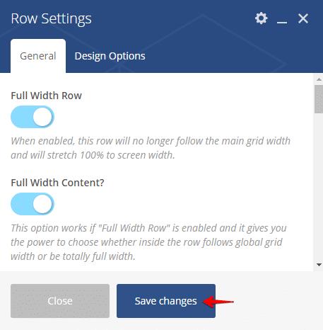 Displaying blog posts - row settings