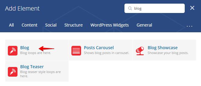 Displaying blog posts - add element