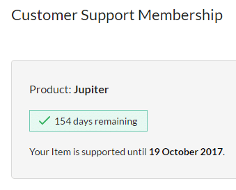 Extending support subscription - customer support membership