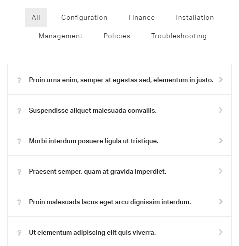 FAQ shortcode - demo