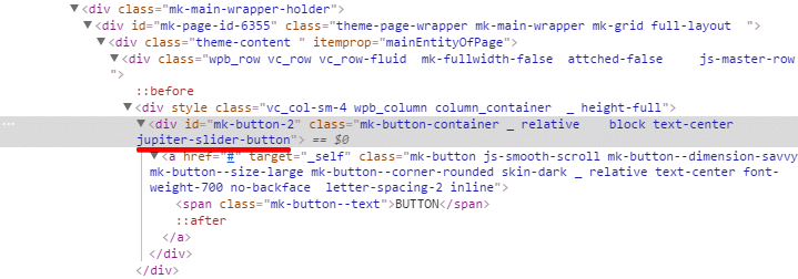 Inserting shortcodes into sliders - button HTML code