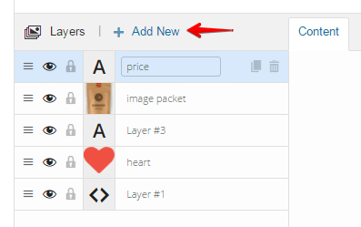 Inserting shortcodes into sliders - add new layer button