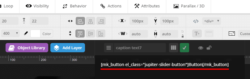 Inserting shortcodes into sliders - revslider shortcode text
