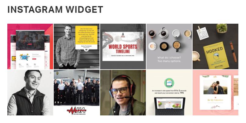 Instagram widget - front end