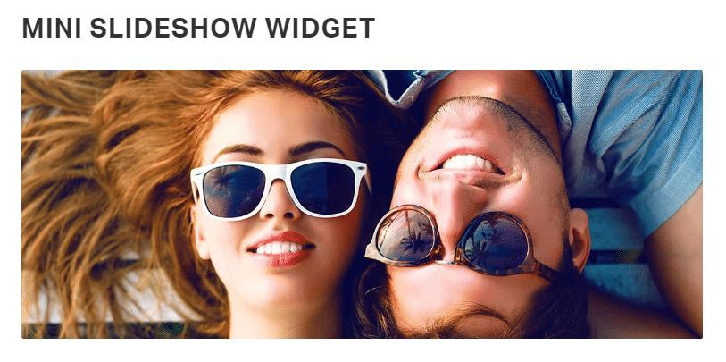 Mini slideshow widget - front end