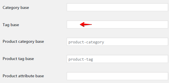 Configuring tags - tag base field