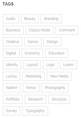 Configuring tags - tag cloud widget