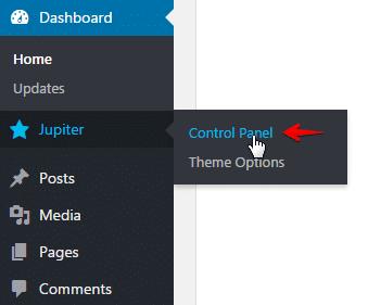 install templates - menu