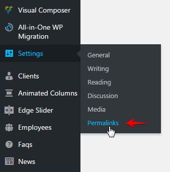 website migration - Permalinks page