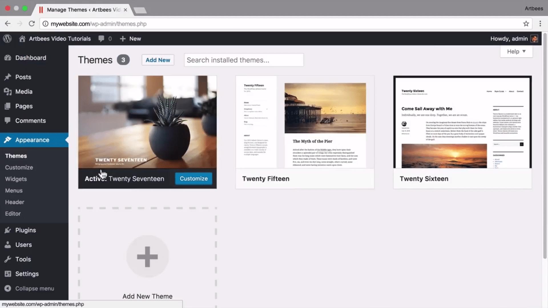 Installing Jupiter WordPress Theme