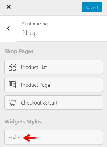 shop customizer