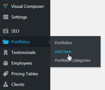 creating a portfolio post