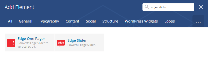 edge slider shortcode