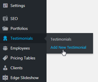 testimonials shortcode