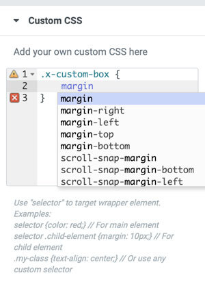 Adding Custom CSS to an Element - WordPress Websites For Businesses