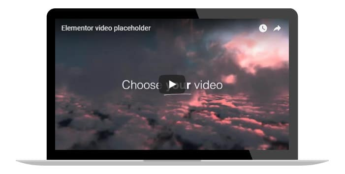 Adding a Youtube video with a laptop mockup frame - WordPress