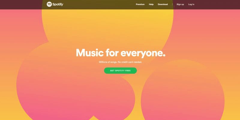 Modern Web Design Trends Spotify