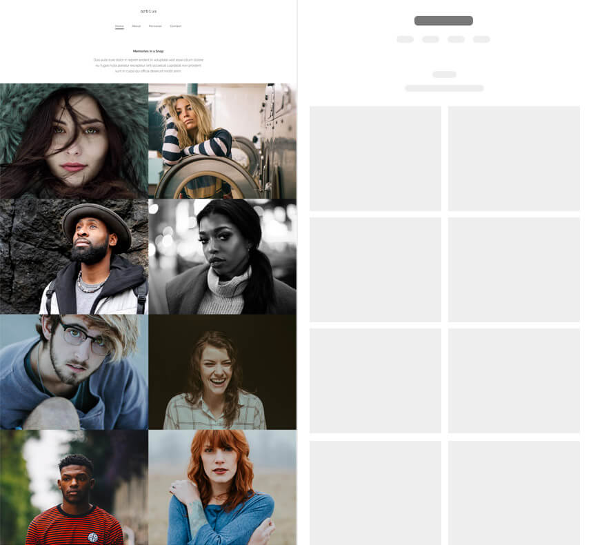 Ideal Photography Website Arbius