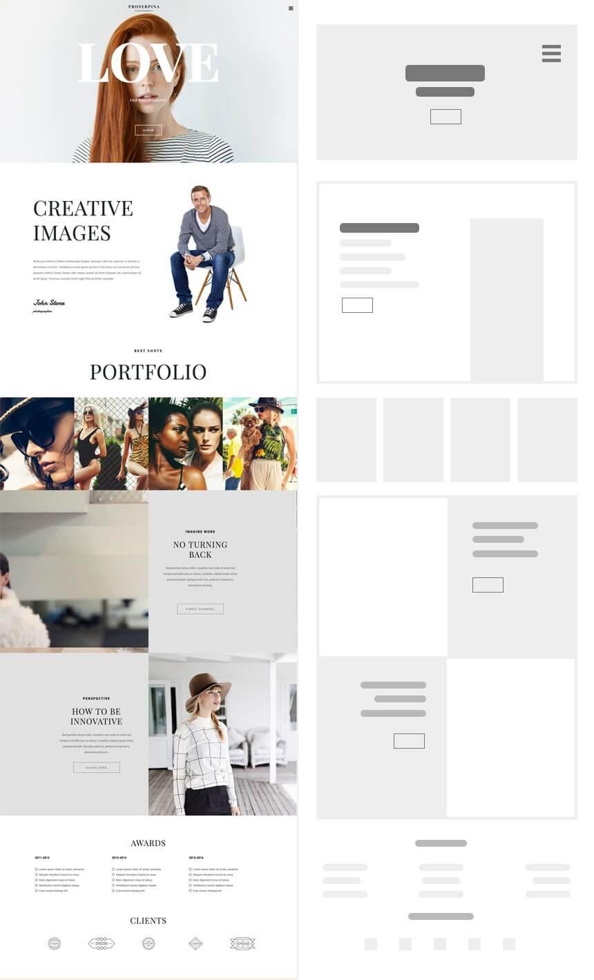 Ideal Photography Website Prosperina